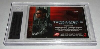 ARNOLD 2003 Terminator 3 Rise of the Machines T-Worn Costumes BGS Hearse Swatch