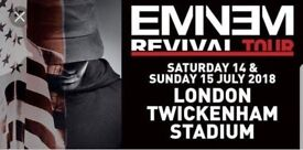 1 x Eminem Ticket - Saturday 14 July - Standing - Face Value