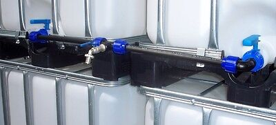 IBC adapter connection tap lever valve set for 2 IBC rain water tanks  #1011*B for sale  Shipping to United Kingdom