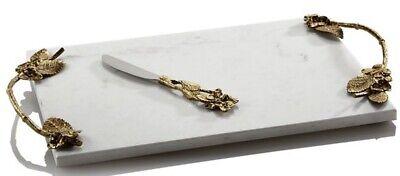 Michael Aram Hydrangea Cheese Board with Knife New $225
