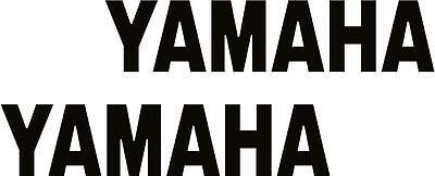 x2 80mm Yamaha Stickers (MOREin EBAY SHOP) Motorbike Decals Black