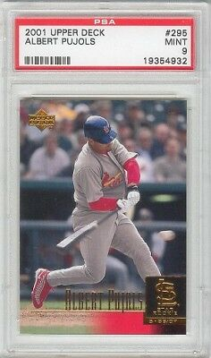 Albert Pujols CARDINALS ANGELS 2001 Upper Deck #295 Rookie Card rC PSA 9 Mint ()