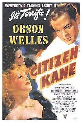 CITIZEN KANE MOVIE POSTER ~ TERRIFIC 27x40 Orson Welles Joseph Cotten