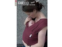 Close Caboo baby sling in burgundy