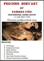 PROFESSIONAL HENNA ARTIST AVAILABLE IN BRANTFORD