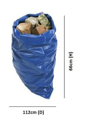 7 x Polythene Heavy Duty Rubble Bin Sacks Builders Bags Super Strong 32 Litres