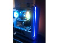 gaming pc full set up with 240hz monitor, mouse and a choice between 2 keyboards