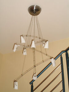 Modern hanging light fixture