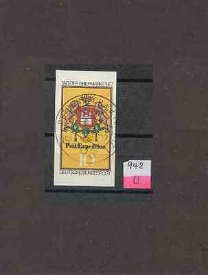 BRD 948 U, 10 Pf Tag der Briefmarke 1977, geschnitten, gestempelt #n259