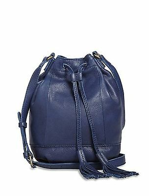 Harper Bucket - Lucky Brand Harper Leather Bucket Bag in Tan, Navy or Pink-NWT-RP: $158