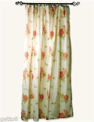 Floral Core Shower Curtain PINK ROSES 72x72  Cottage Chic Shabby ROMANTIC New