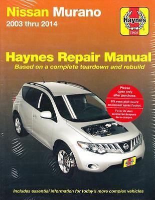 2003 2008 2009 2010 2011 2012 2013 2014 Nissan Murano Haynes Repair Manual 2681