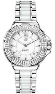 NEW TAG HEUER  FORMULA 1 WAH1215.BA0861 DIAMOND BEZEL CERAMIC & STEEL F1 WATCH