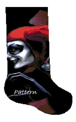 Harley Quinn Christmas Stocking. Cross Stitch Pattern. - Harley Quinn Stocking