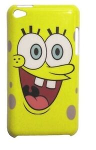 SpongeBob Face Snap-on Hard Cover Case for iPod Touch 4th Gen - Yellow