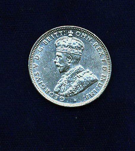 AUSTRALIA  GEORGE V  1927  1 SHILLING SILVER COIN,  XF