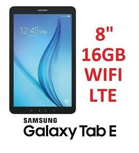 "NEW OB SAMSUNG TAB E TABLET 8"" 16GB Android 6.0 LTE Tablet 106573100"