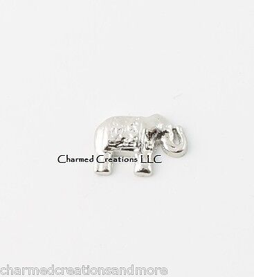 Elephant Zoo Animal Floating Charm For Our Glass Memory Locket Necklaces