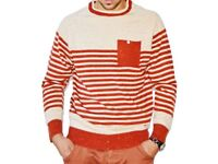 Soul star cotton long sleeve jumper with stripes