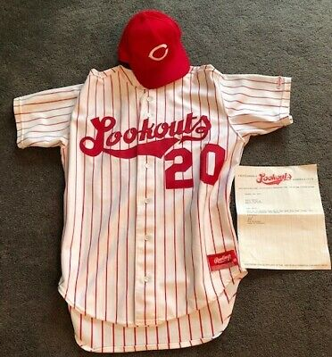 90's Chattanooga Lookouts Baseball Game worn jersey + hat NICE