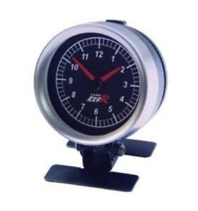 Chrome-Interior-Car-Clock-TIME-LED-SMOKE-Gauge-Meter