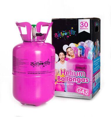 Helio para Hasta 30 Globos Heliumflasche Gas para Globos 210 Litros (0,21...
