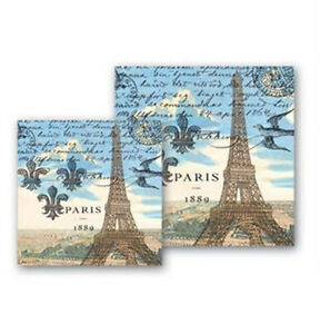 Napkin-Beverage-Paris-by-Michel-Design-Works-Eiffel-Tower-Design