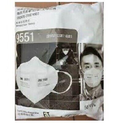 3M 9551 KN95 Staubschutz Maske 2er Pack Mundschutz Atemschutz Premium