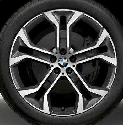 "BMW OEM G05 X5 G01 X3 G02 X4 Style 744 Orbit Grey Y-Spoke 21"" Wheel Set Of 4 New"