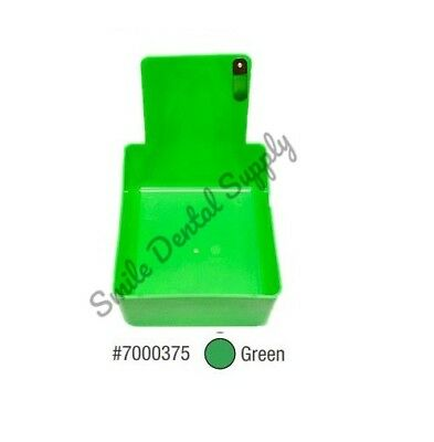 Dental Laboratory Working Case Plastic Pan Tray With Clip Holder 1x Green Pans