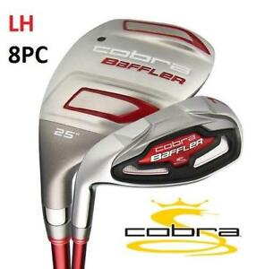 NEW COBRA 8PC LH MEN'S IRON SET BAFFLER IRN CMB GPH LITE 4H 200128789 GOLF BAFFLER HYBRID LEFT HAND STEEL REGULAR FLEX
