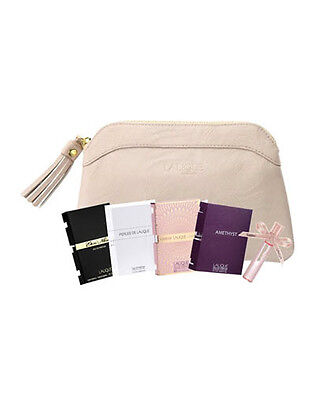 LALIQUE Beauty Pouch + 5 Assorted Female Fragrance Samples, 2ml each, $65 value
