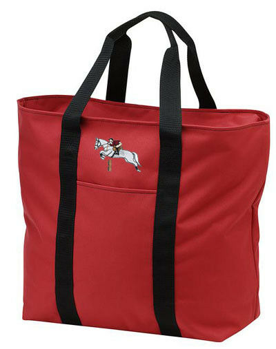 JUMPER JUMPING horse embroidered tote bag ANY COLOR