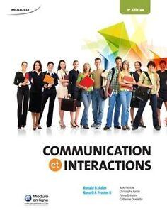 """Livre """"Communication et interactions"""""""