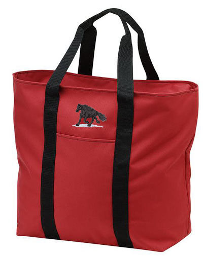 FRIESIAN horse embroidered tote bag ANY COLOR