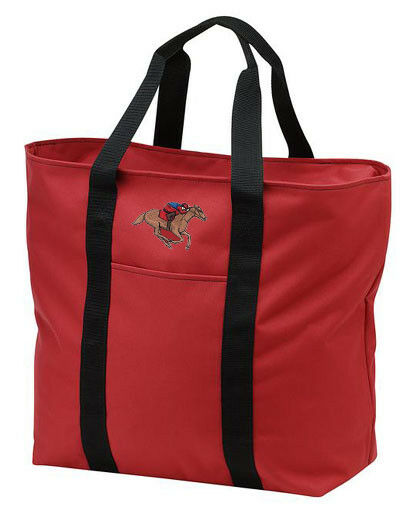 RACE horse embroidered tote bag ANY COLOR
