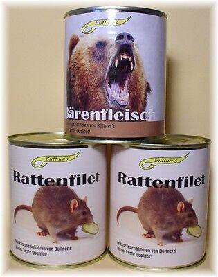 RATTENFILET Fruchtgummi Süßigkeiten Gummibärchen Dosen Ratte Bär für - Halloween Süßigkeiten