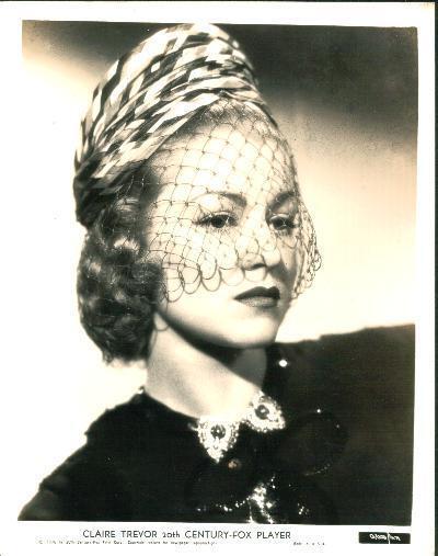 Portrait CLAIRE TREVOR ,  f7134