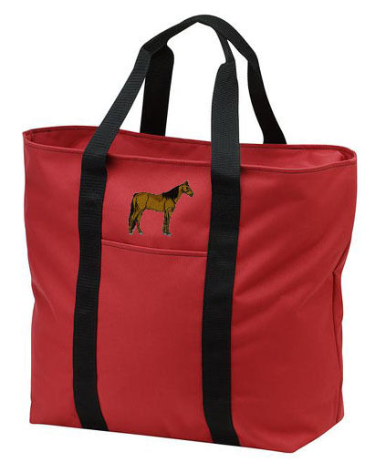 MORGAN horse embroidered tote bag ANY COLOR