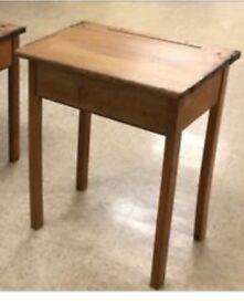 Retro flip lid school desk table