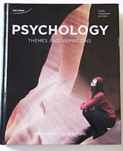 PSYC 1200 required textbook Psychology: Themes and Variations Th