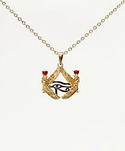 EGYPTIAN-ISIS-with-HORUS-EYE-NECKLACE-PENDANT-JEWELRY-ANCIENT-EGYPT-BEAUTIFUL