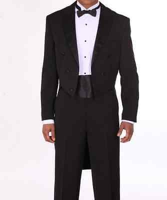 Men's Tuxedo Suit with Long Tail, comes with Pants, black, White Fortino Landi - Tux With Tails