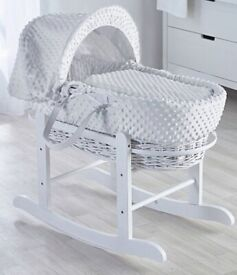 Kinder valley Moses basket. Only used for 2 weeks