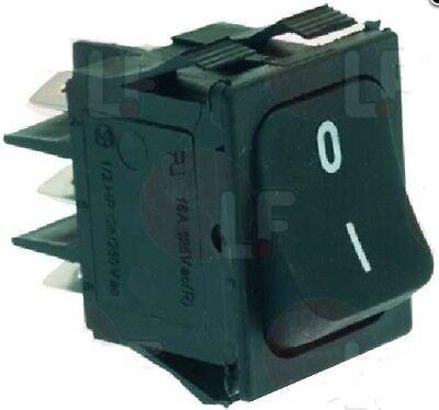 4 Pin Bipolar On-off Switch Black 22x30mm