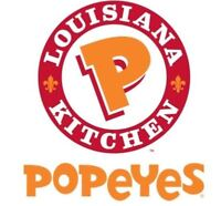 Shift Manager, Cashier, and Cook wanted in Popeyes