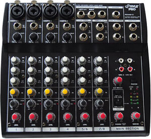 New Pyle PEXM810 8 Channel Professional Audio Mixer with Phantom Power DJ Pro
