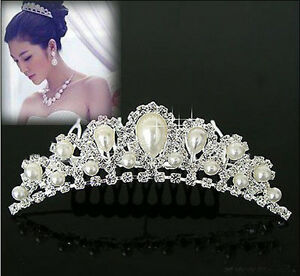 Charming-Noble-Imitation-Pearl-Rhinestone-Inlay-Crown-Wedding-Comb-Bride-Hair