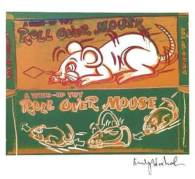 ANDY WARHOL HAND SIGNED SIGNATURE * ROLL OVER MOUSE *  PRINT  W/ C.O.A.