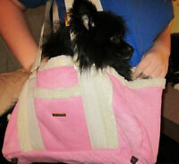 """ Fashion Pet "" Pink Sherpa Dog Tote / Carrier"